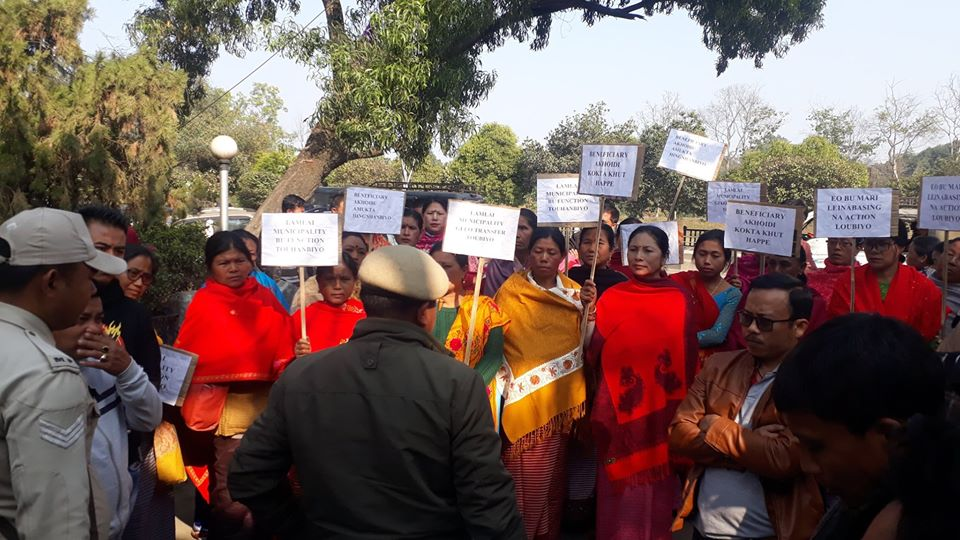 Frustrated PMAY Beneficiaries storm Minister Quarter demanding action against EO