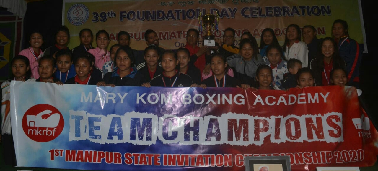 MKRBFA emerge overall team champion of the 1st Manipur State Invitation Boxing Championship 2020