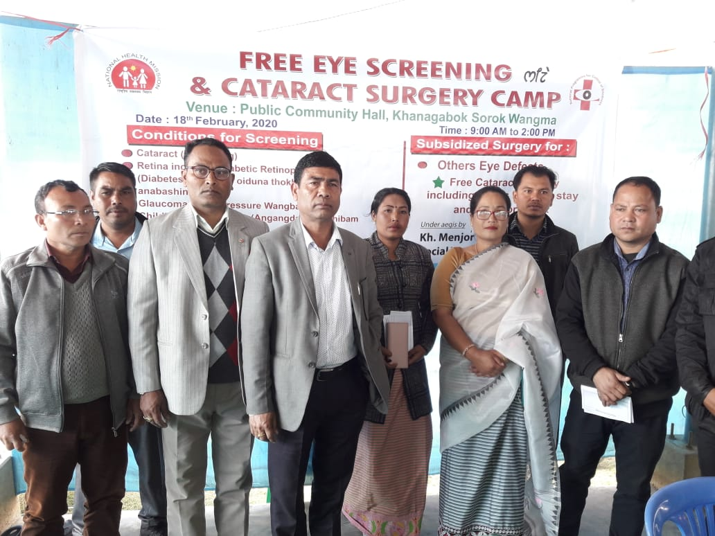 Free Eye Screening and Cataract Detection Camp Held at Khangabok
