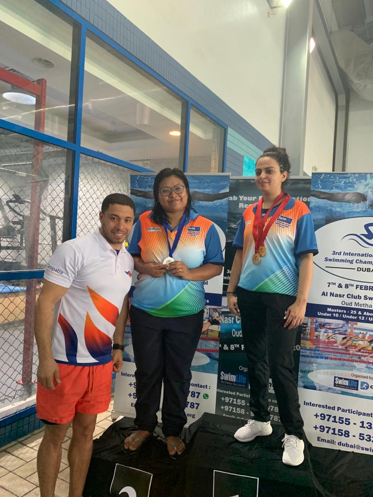 Manipur girl wins medal at int'l swimming competition