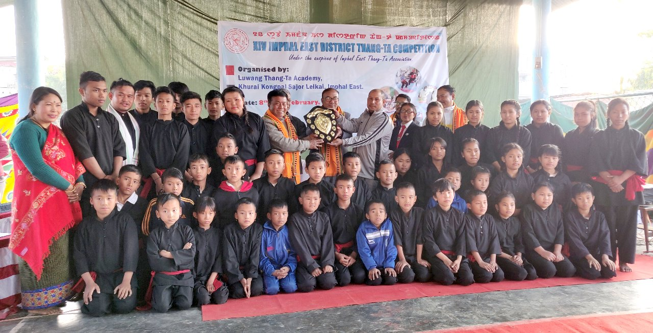 Luwang Thang-Ta Academy lifts overall team champion of the 14th Imphal East District Thang-Ta Competition