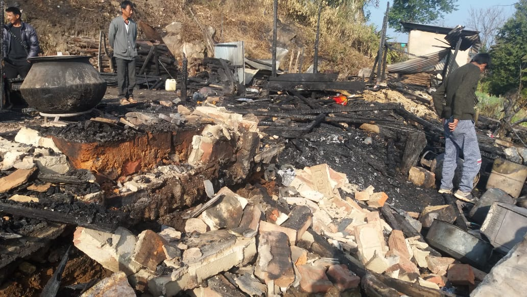 Fire breaks out in Ukhrul, no casualty reported