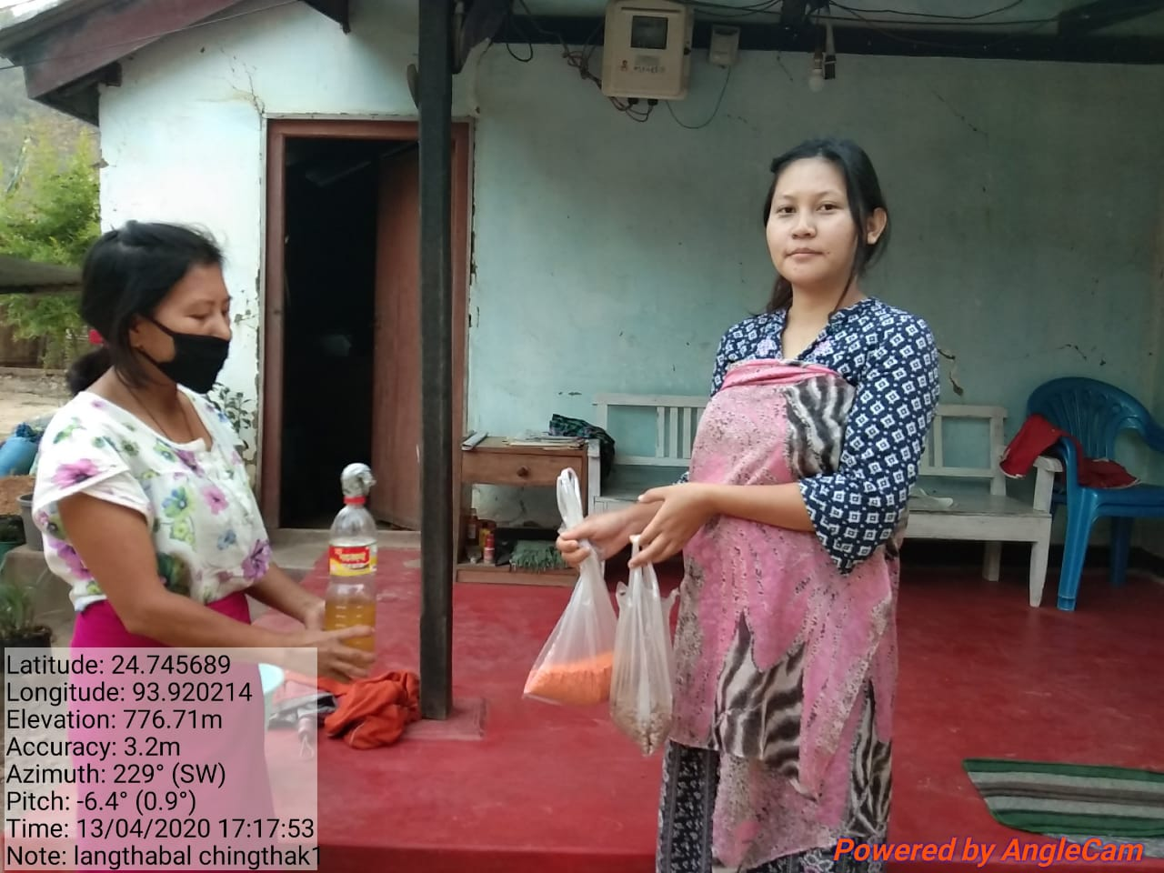 Anganwadi workers distribute cooked meal items through home visits