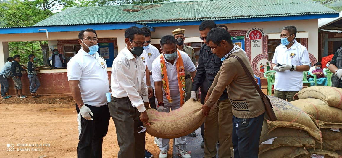 MDA Distributes Relief Materials to Villages in Tengnoupal District