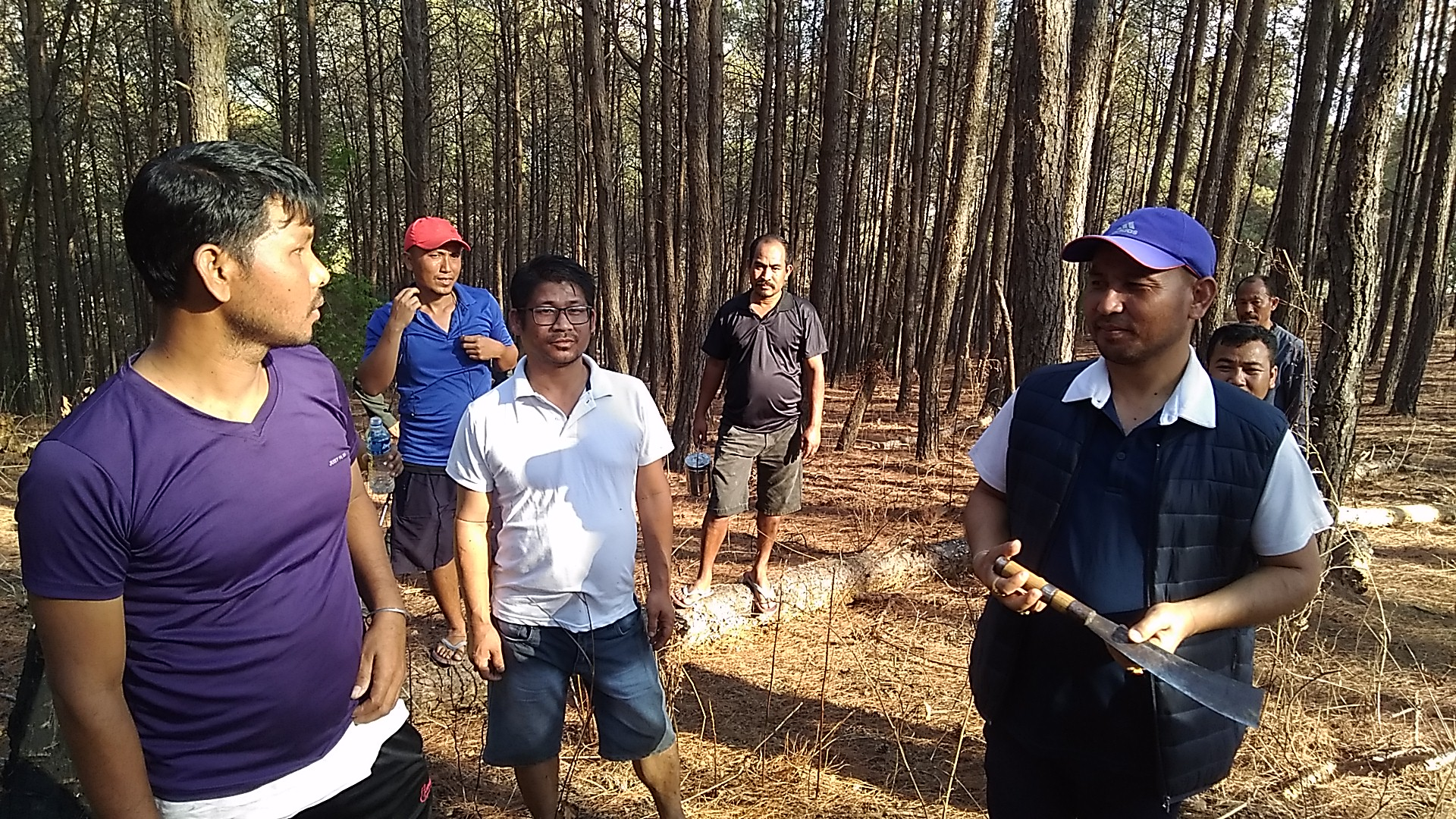 MLA Rameshwor inspects Nongmaiching Reserved Forest, calls for local involvement in Forest Protection