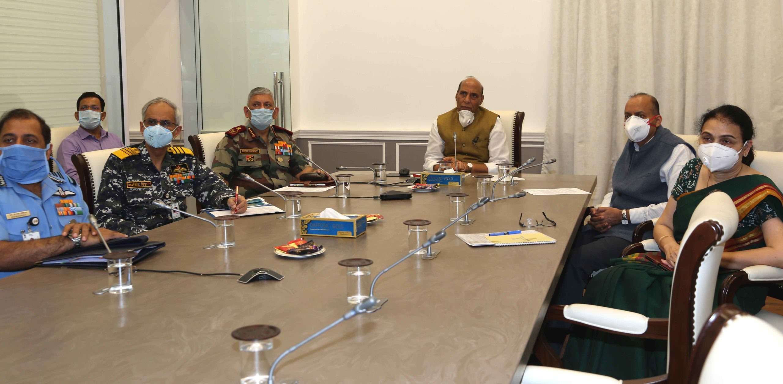 Defence Minister Rajnath Singh reviews operational and COVID-19 preparedness of armed forces