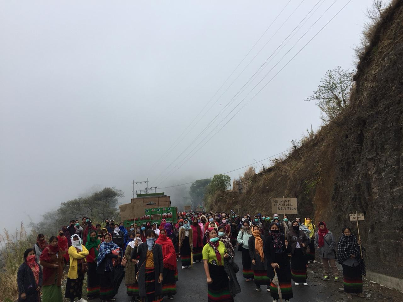 Tension grips Ukhrul for 2nd day over AR's march to Kashung Bungdung