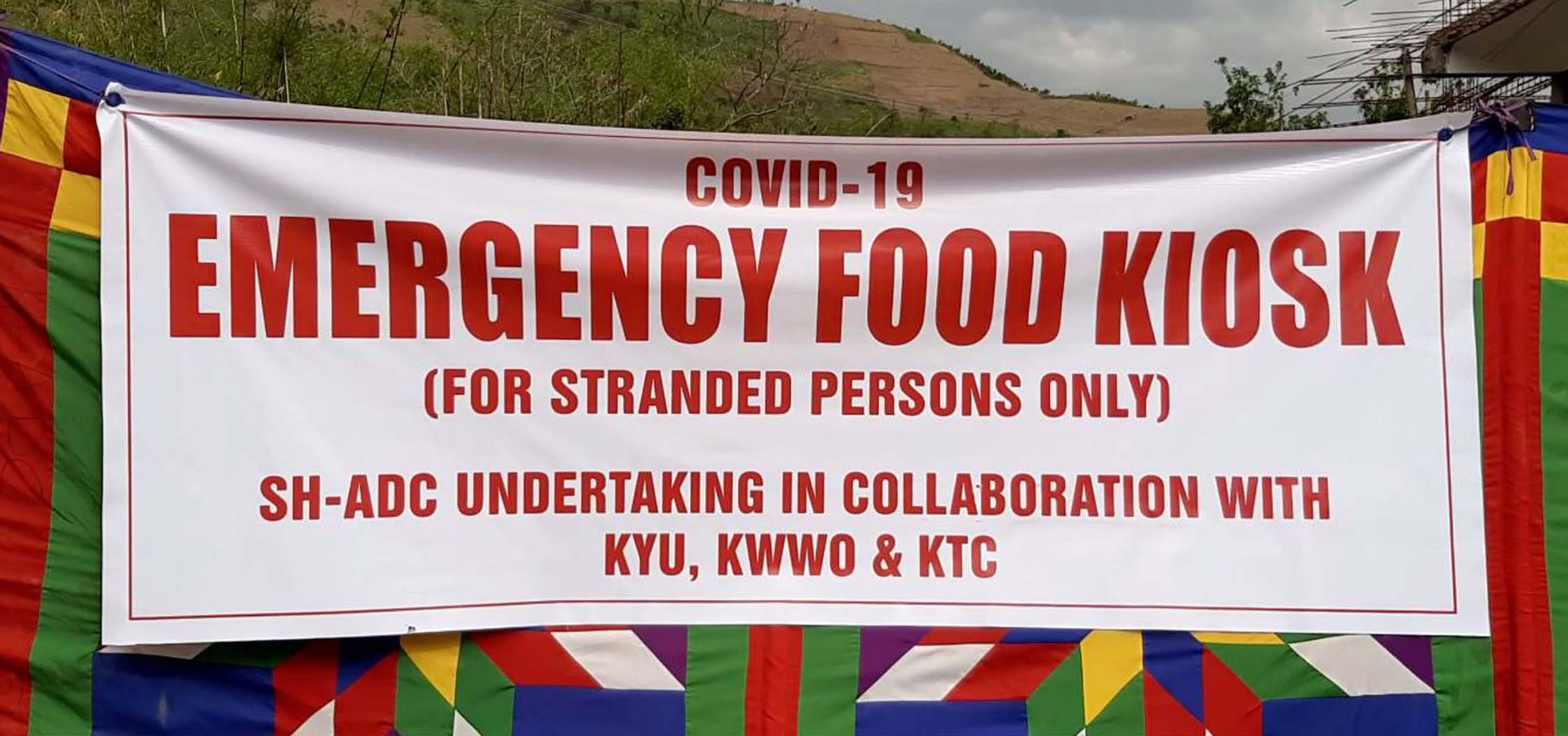 Returning stranded Kpi people to be served food at DHQs
