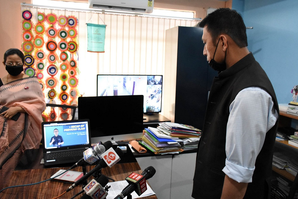 Education Minister Radheshyam launches online education website for classes 1 to 12