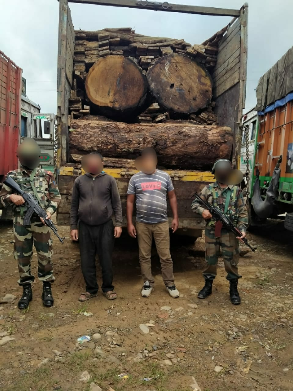 AR seize illegal timber worth lakhs at Lambui