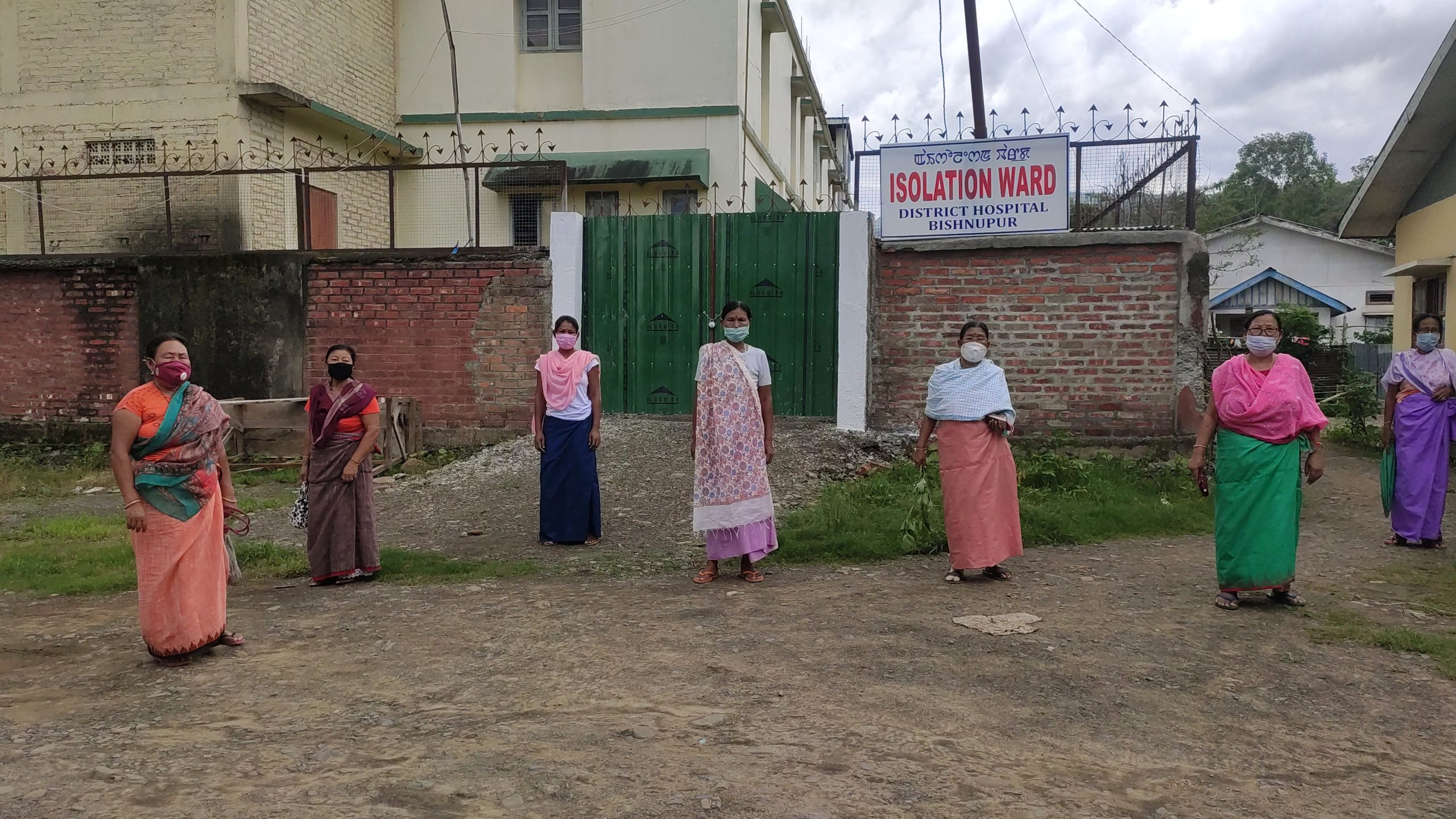 Locals in Bishnupur fighting fear of possible community spread of COVID-19