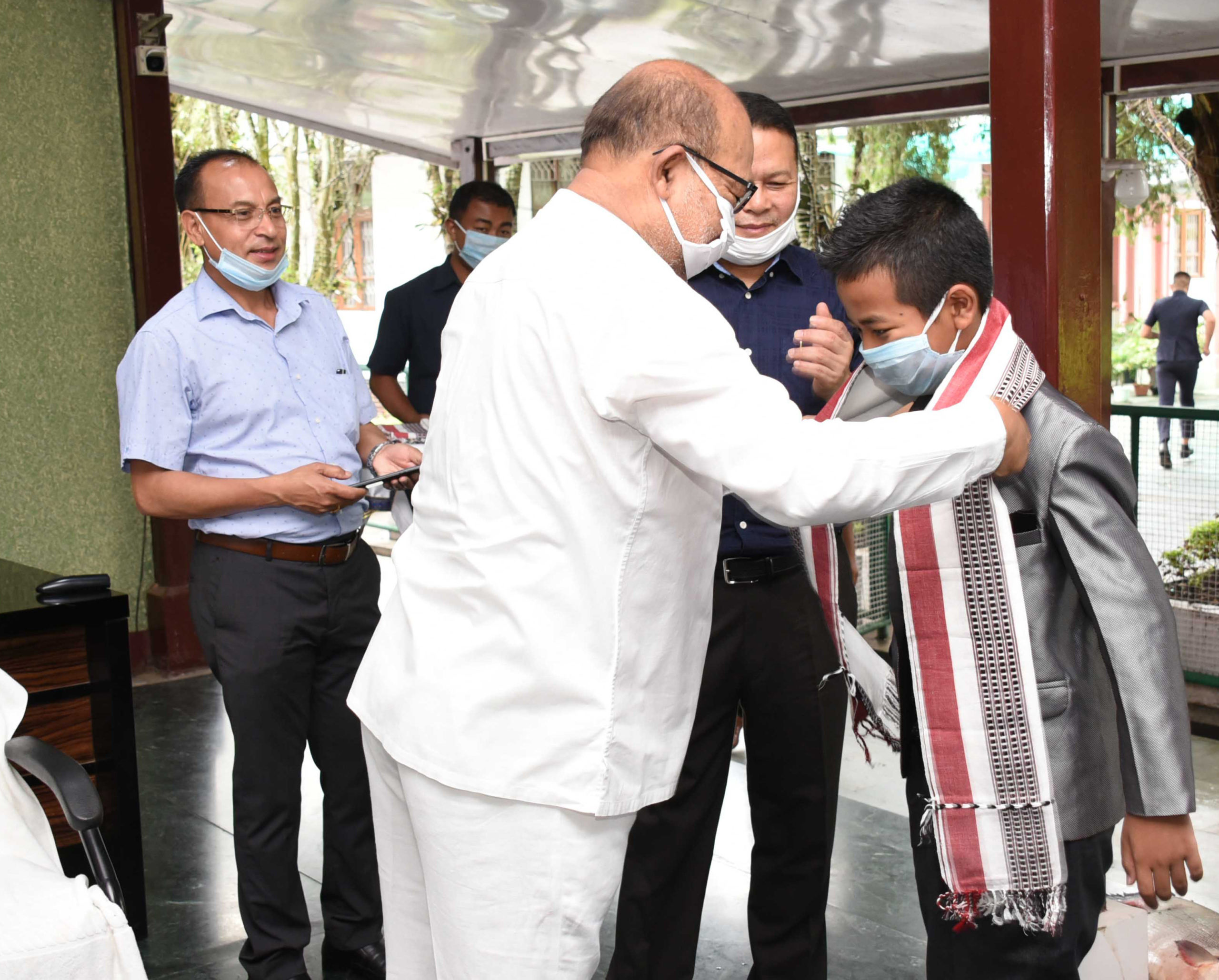 CM felicitate 12-year old Isaac for cracking HSLC Exam, 2020