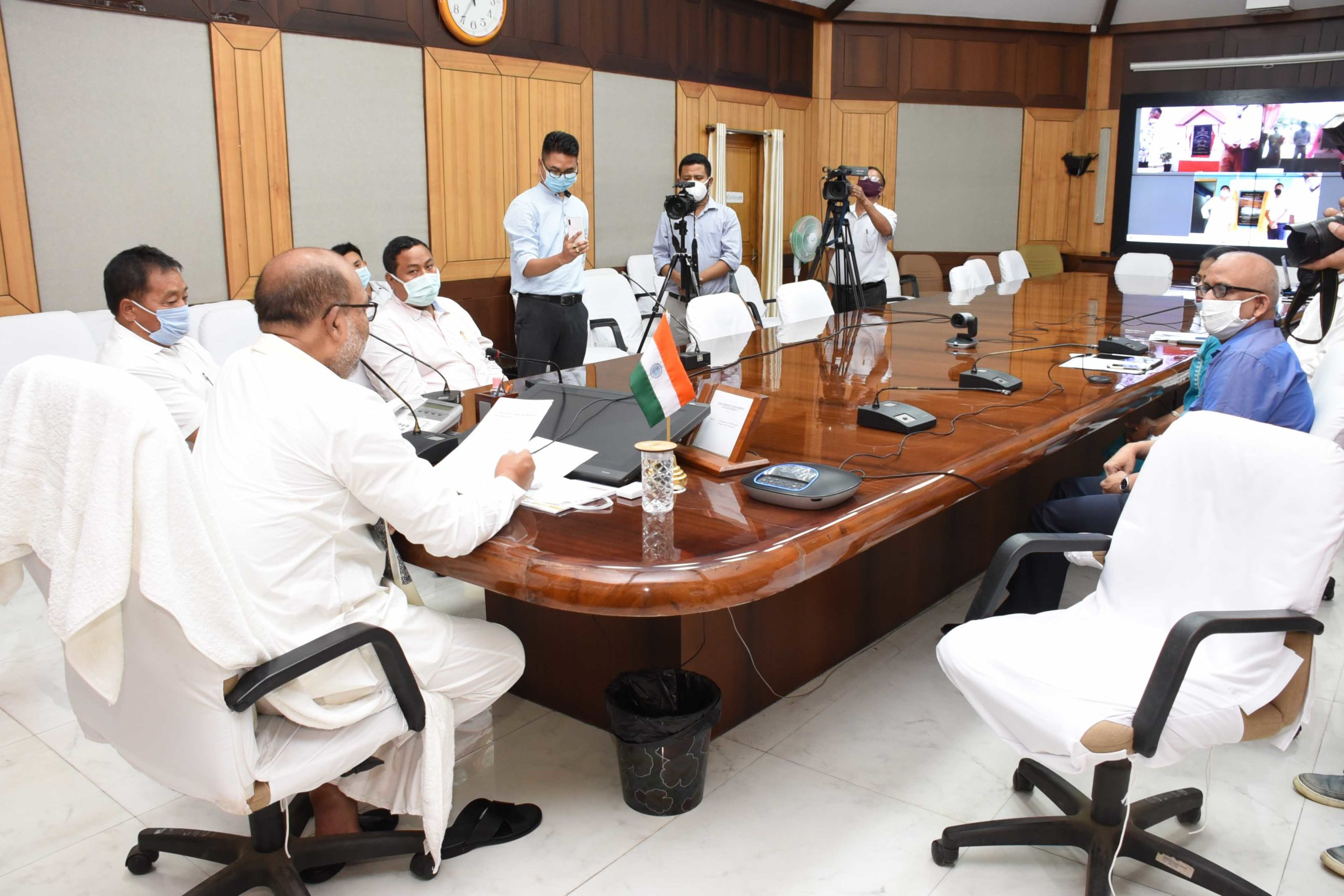 CM inaugurates three PHED projects via video conferencing