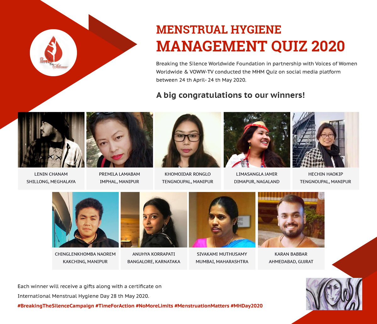 Results of the Social Media Driven National Quiz on Menstrual Hygiene Management