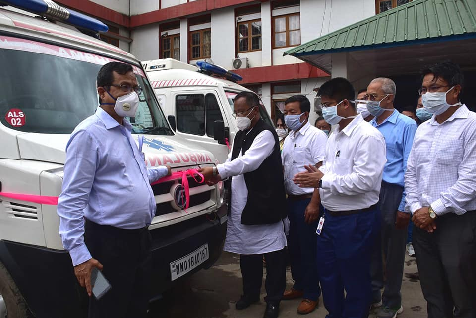 Ambulance handed over for Noney and Kamjong on PPP model