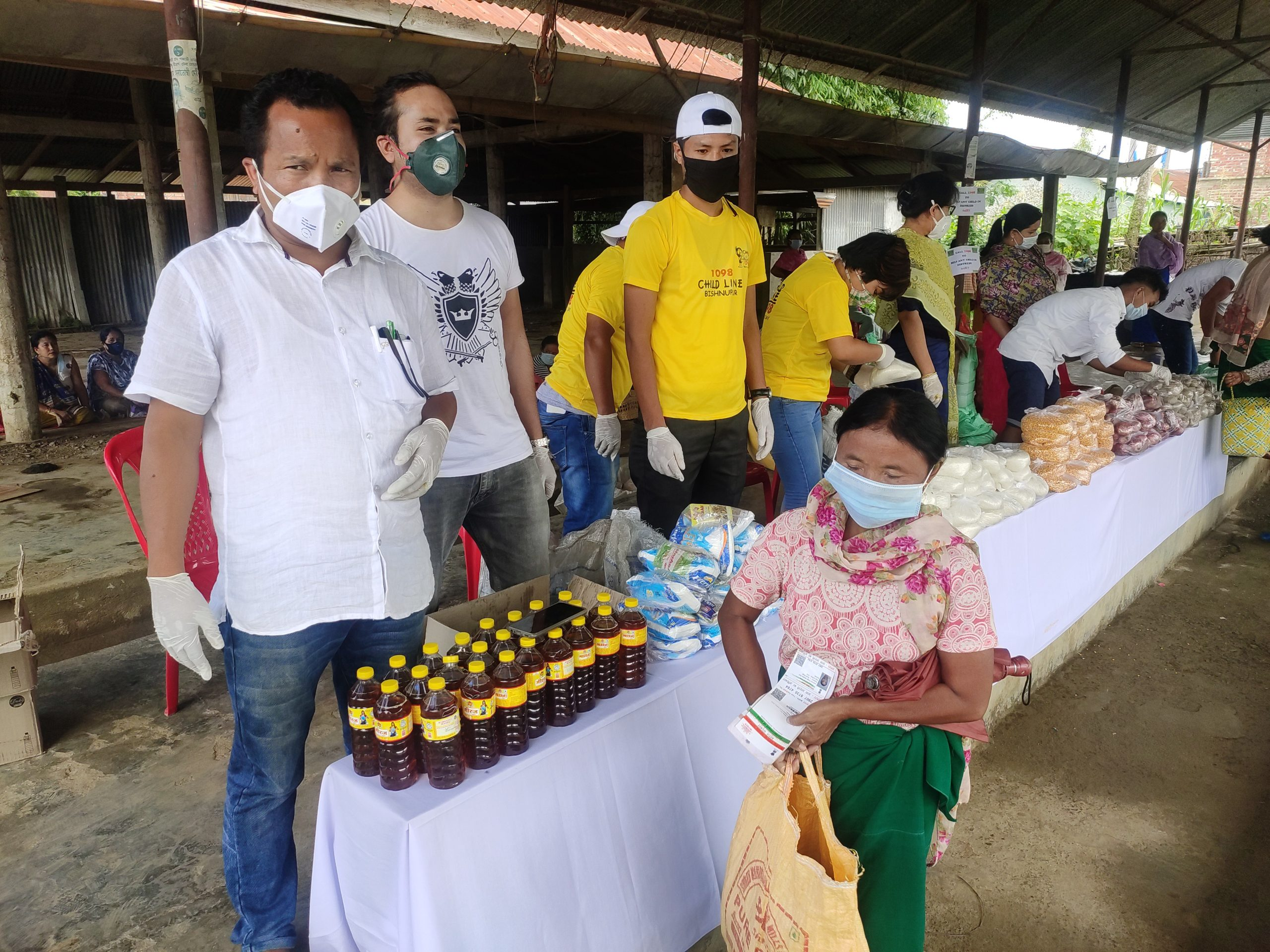 Food items distributed to widows