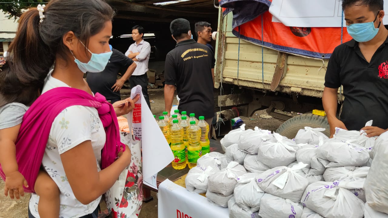 Nutritious food packages distributed to lactating mother