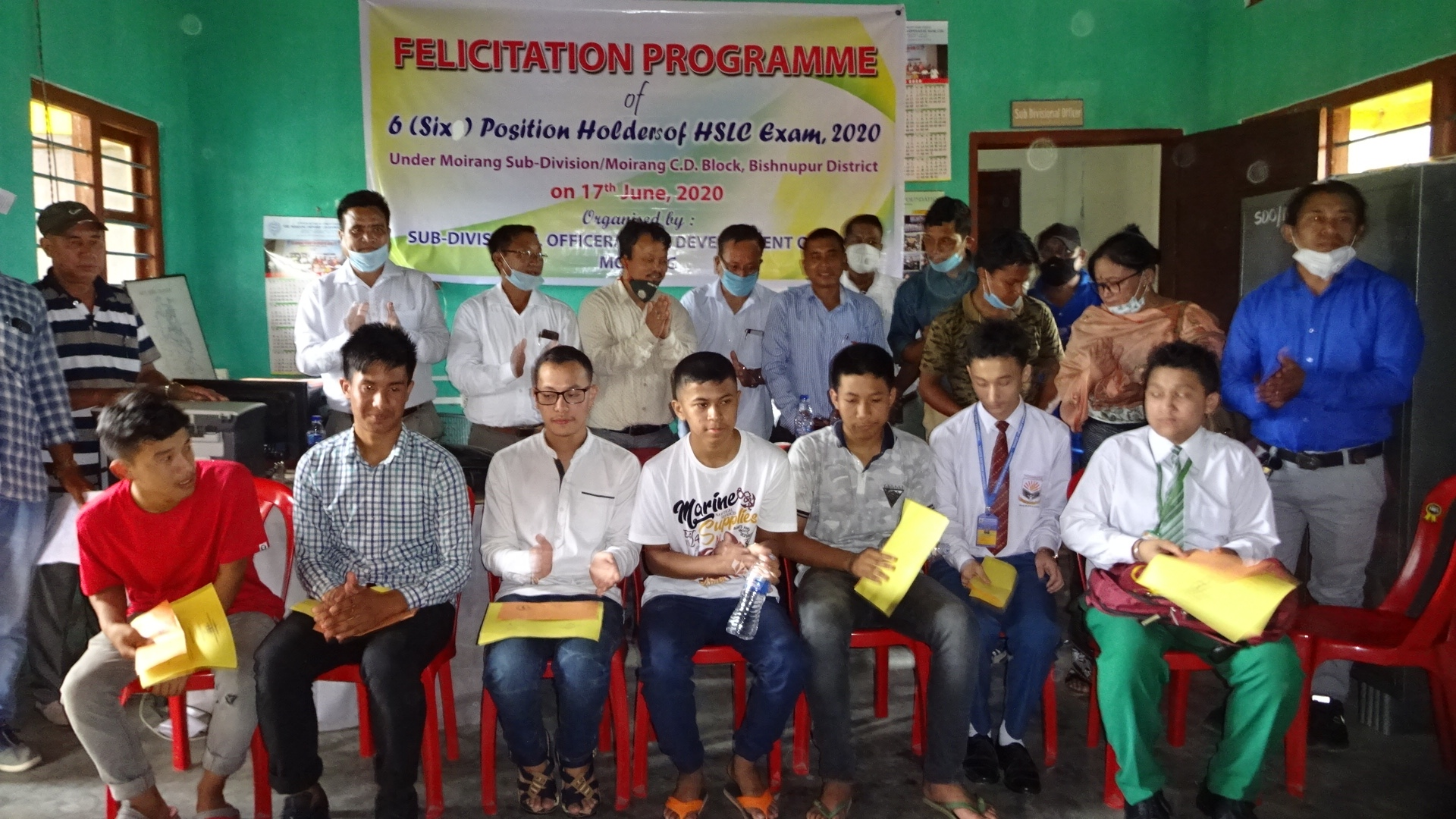 HSLC position holders of Moirang CD Block felicitated