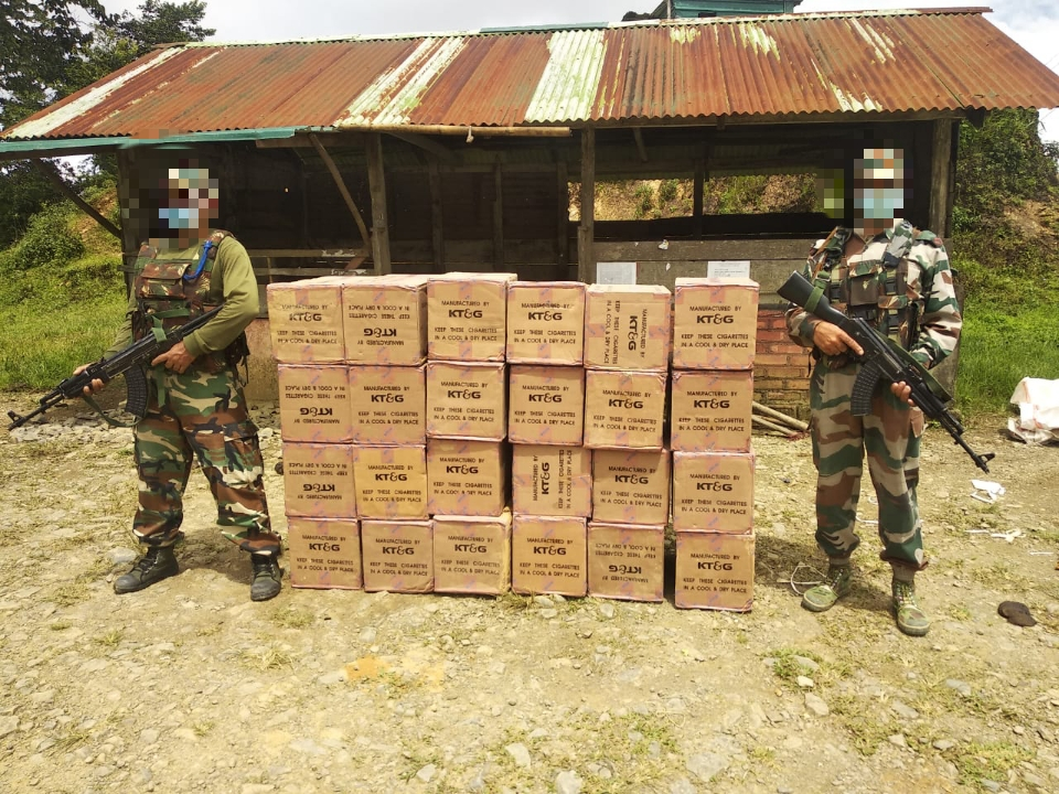Contraband items seized in Tengnoupal