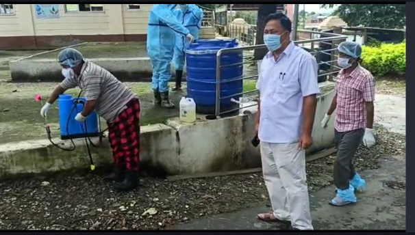 Cleanliness drive held at Bishnupur District Hospital, OPD to resume from Monday