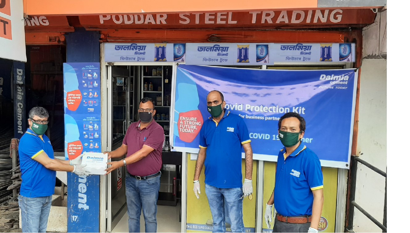Dalmia Cement distributes COVID Safety Kits to channel partners across NE