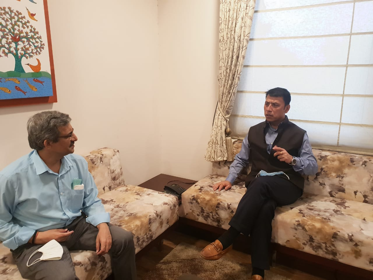Education Minister calls on chairperson of NCTE and Secretary UGC