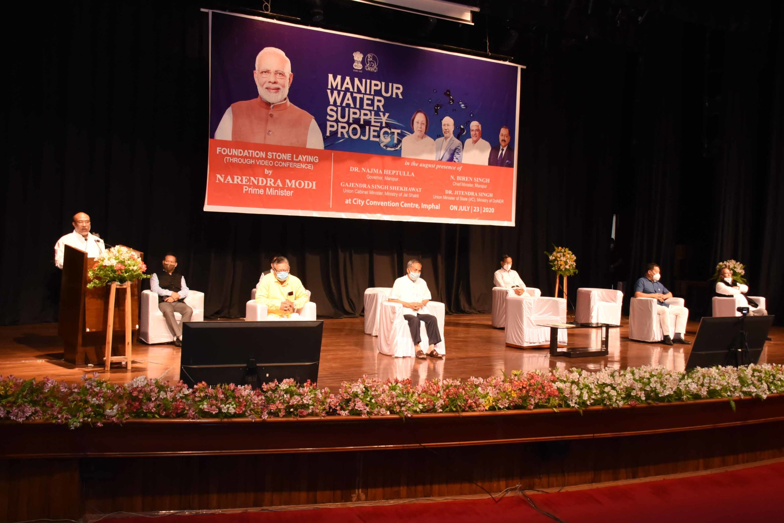 PM lays foundation stone for Manipur water supply project