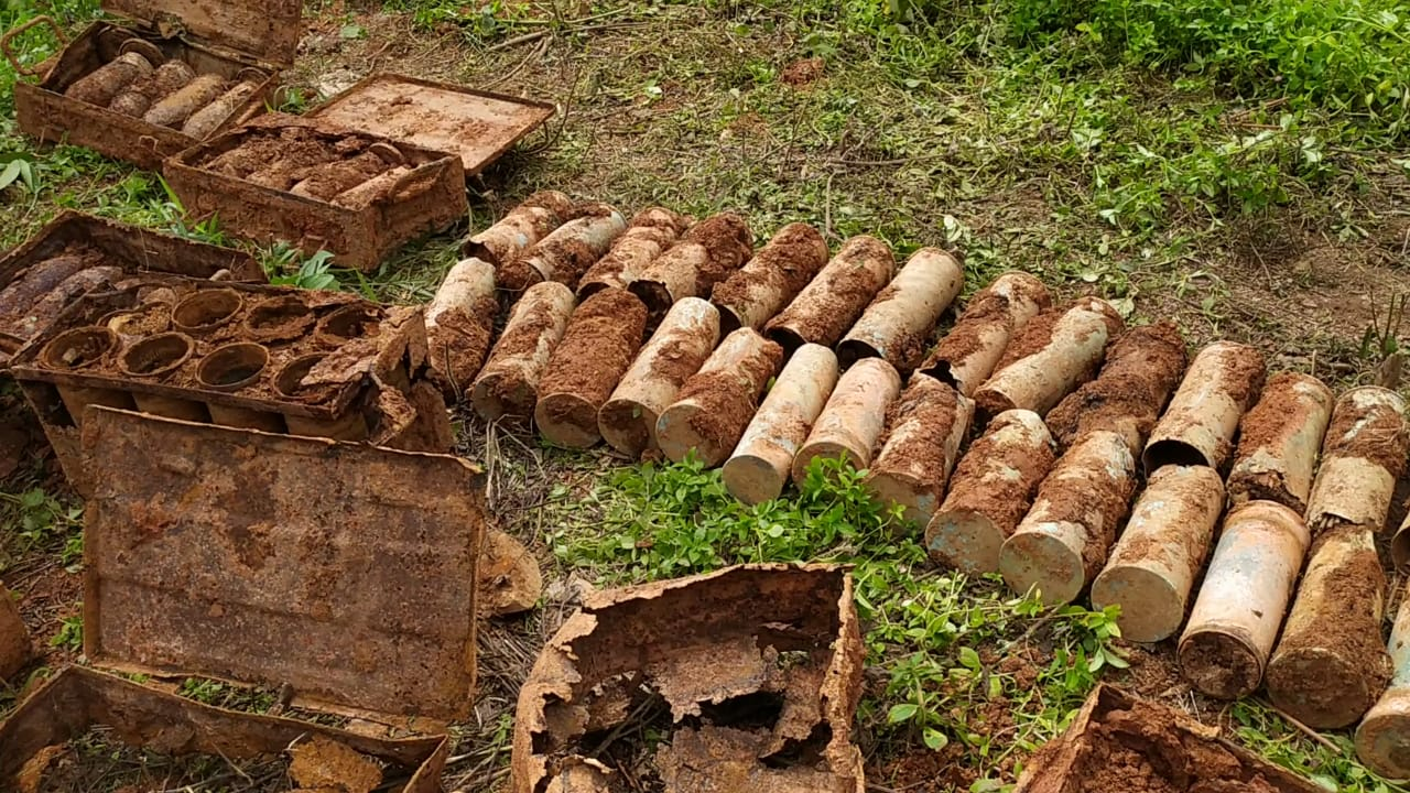 WW2 bombs dug up in Moreh