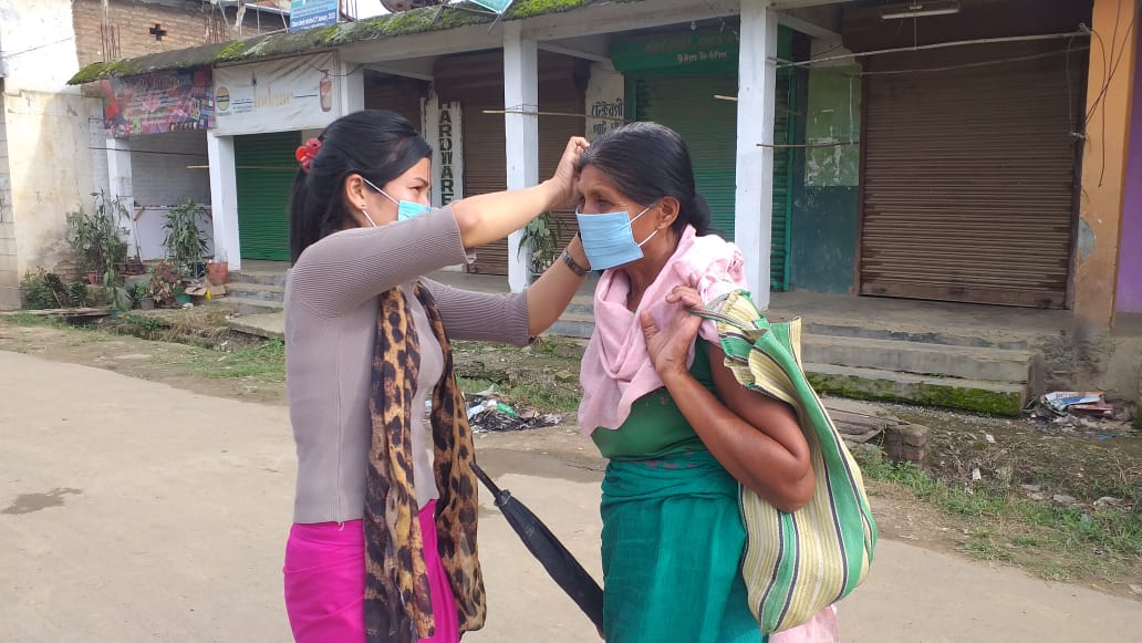 Face masks distributed
