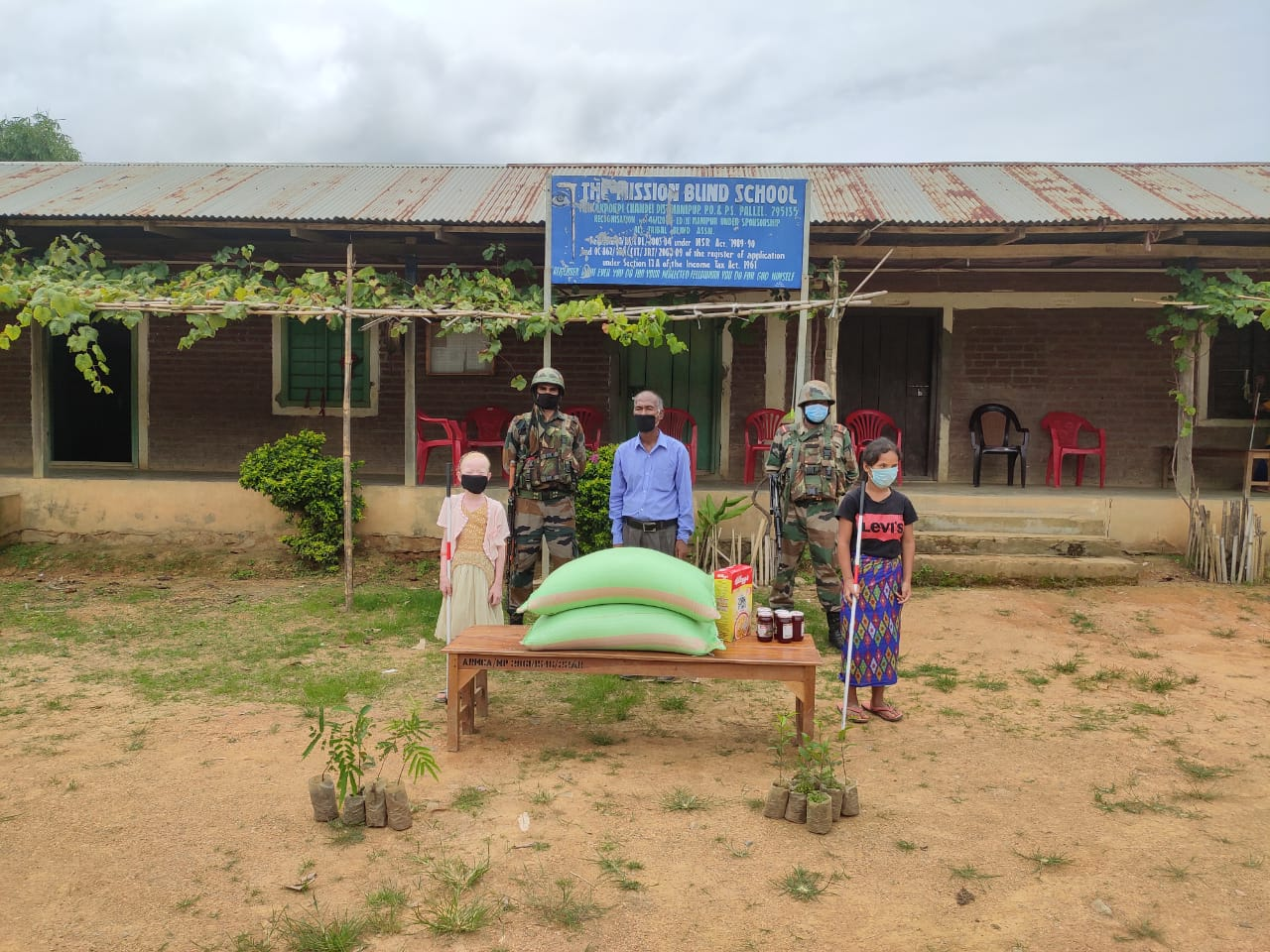 AR provides assistance to Mission Blind School, Kakching