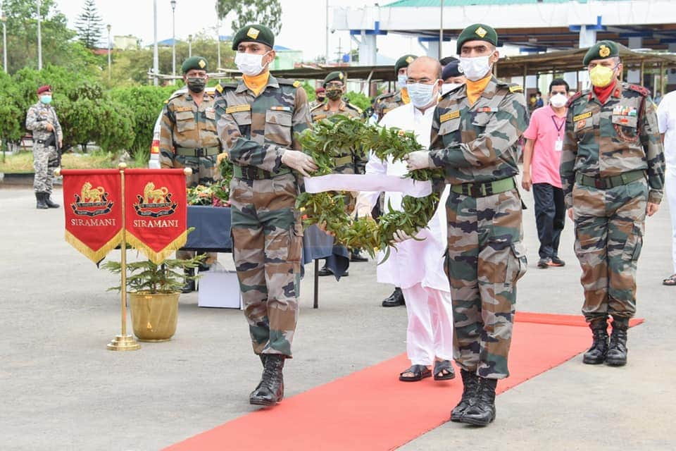 Last Respects Paid to Martyred Soldiers