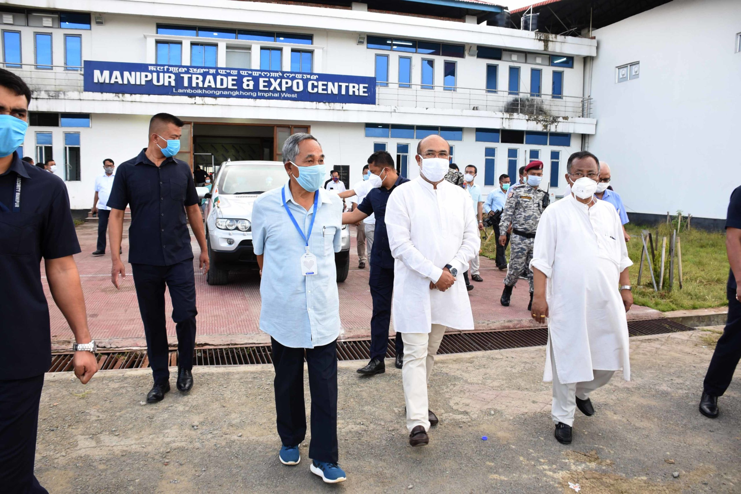 CM inspects Covid Care Centre; to be upgraded to 1000 beds from 300