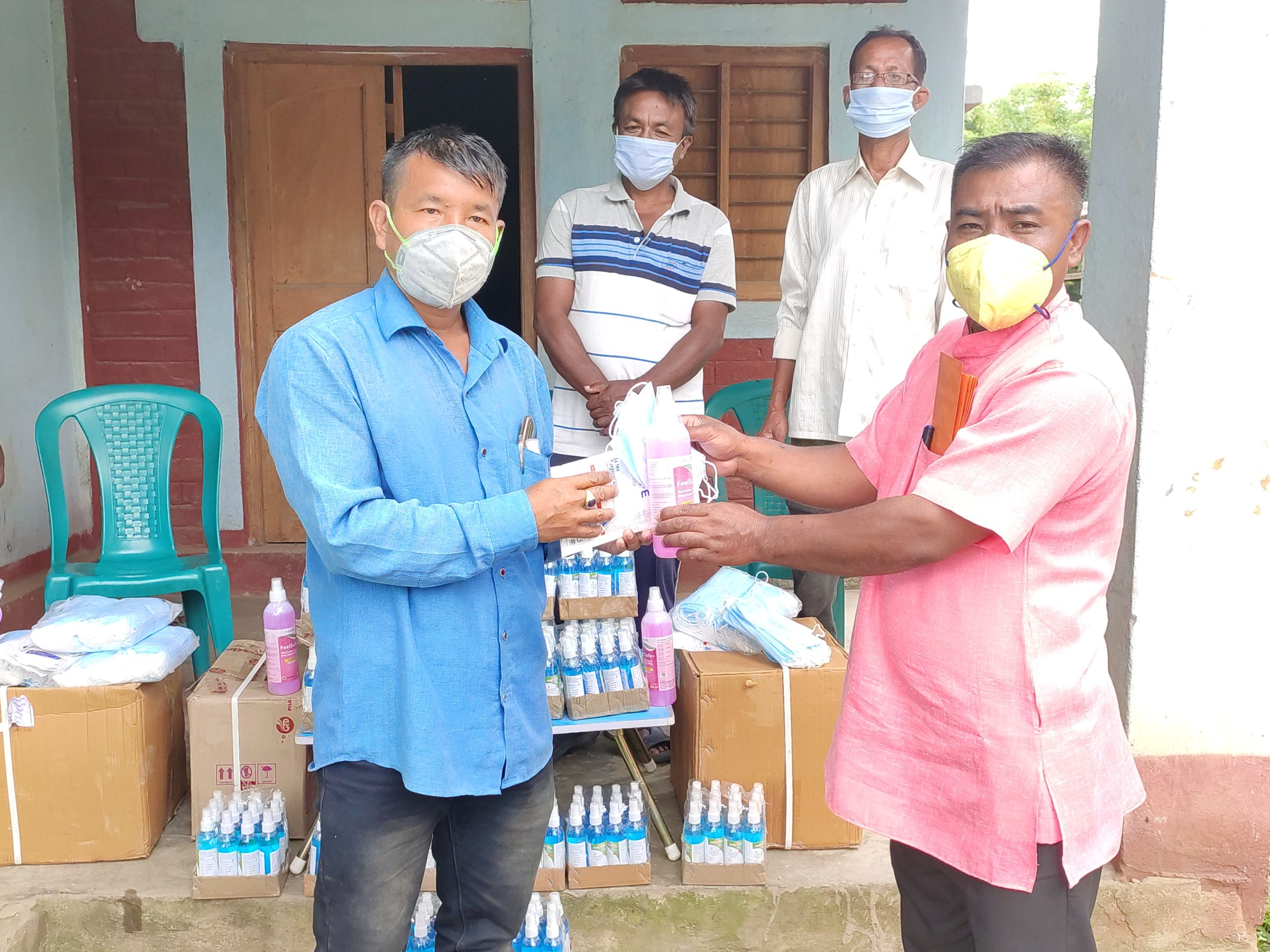 Mask, hand sanitizer distributed