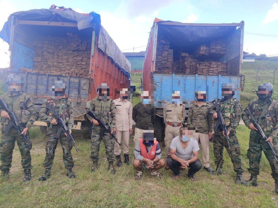 AR recovers smuggled timber in Ukhrul district