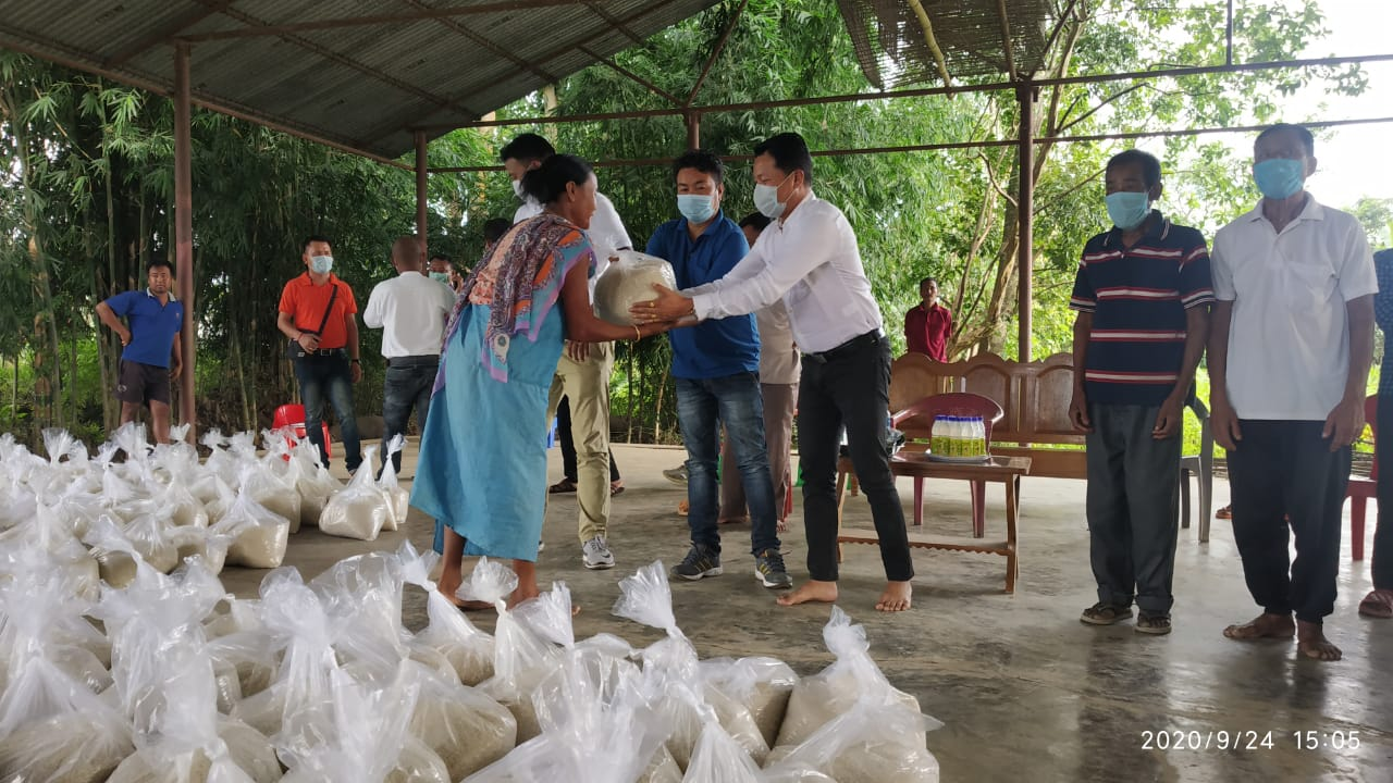 Essential items distributed in Kumbi A/C