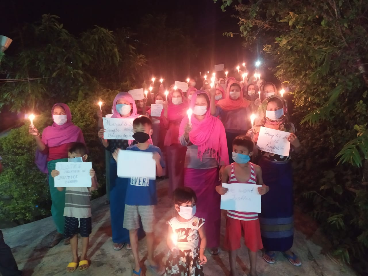 Candle light prayer held for 14-year old rape victim
