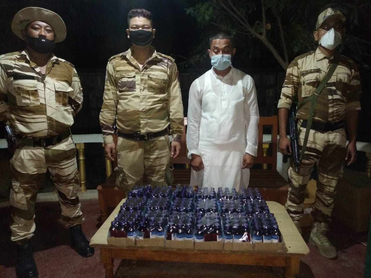 One arrested with 216 bottles of Codeine