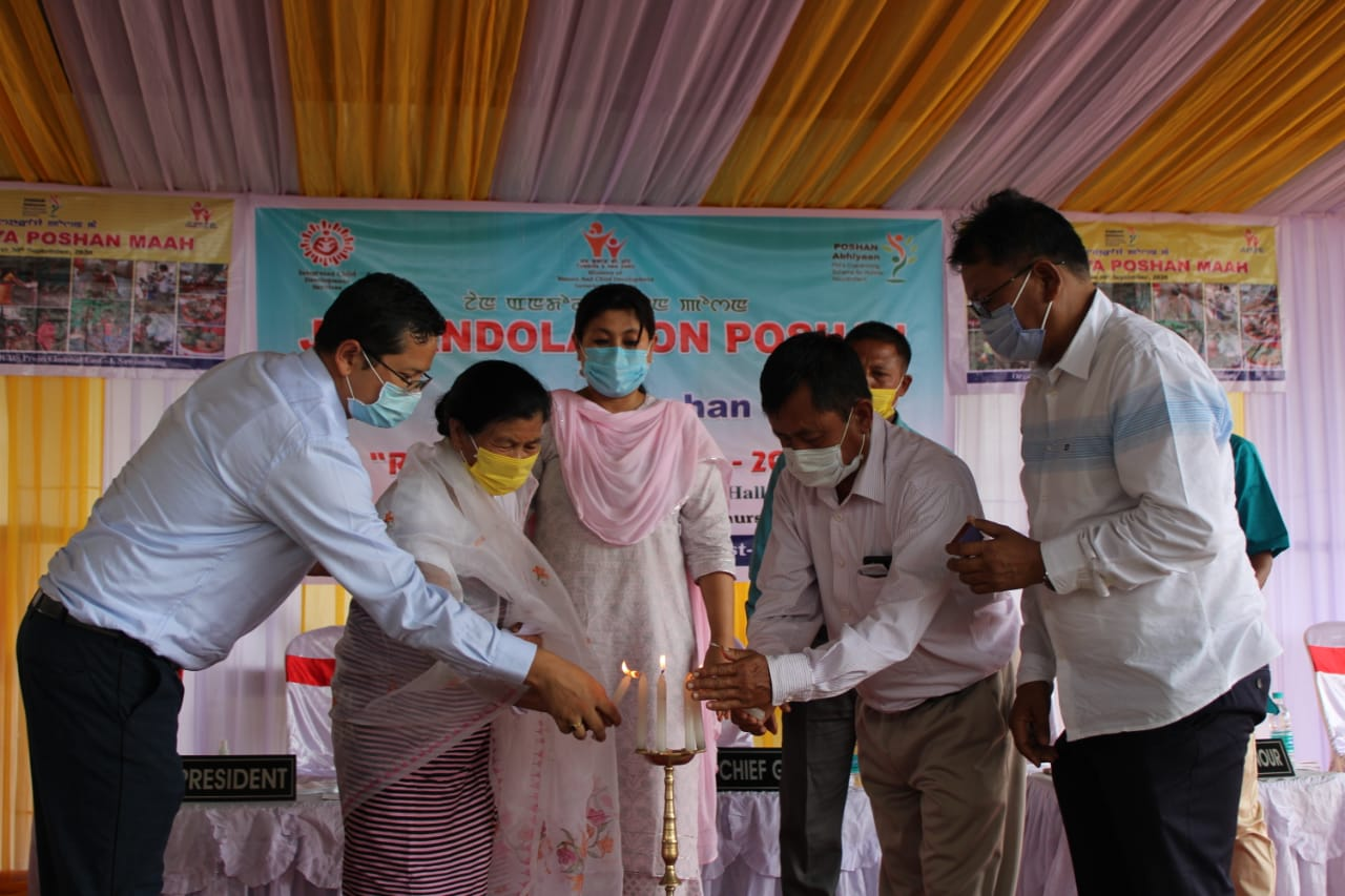 ICDS Project Imphal-1 Sawombung conducts a Jan Andolan on Poshan