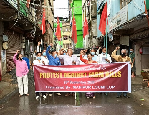 Nationwide protest against Farms Bill held in Manipur too