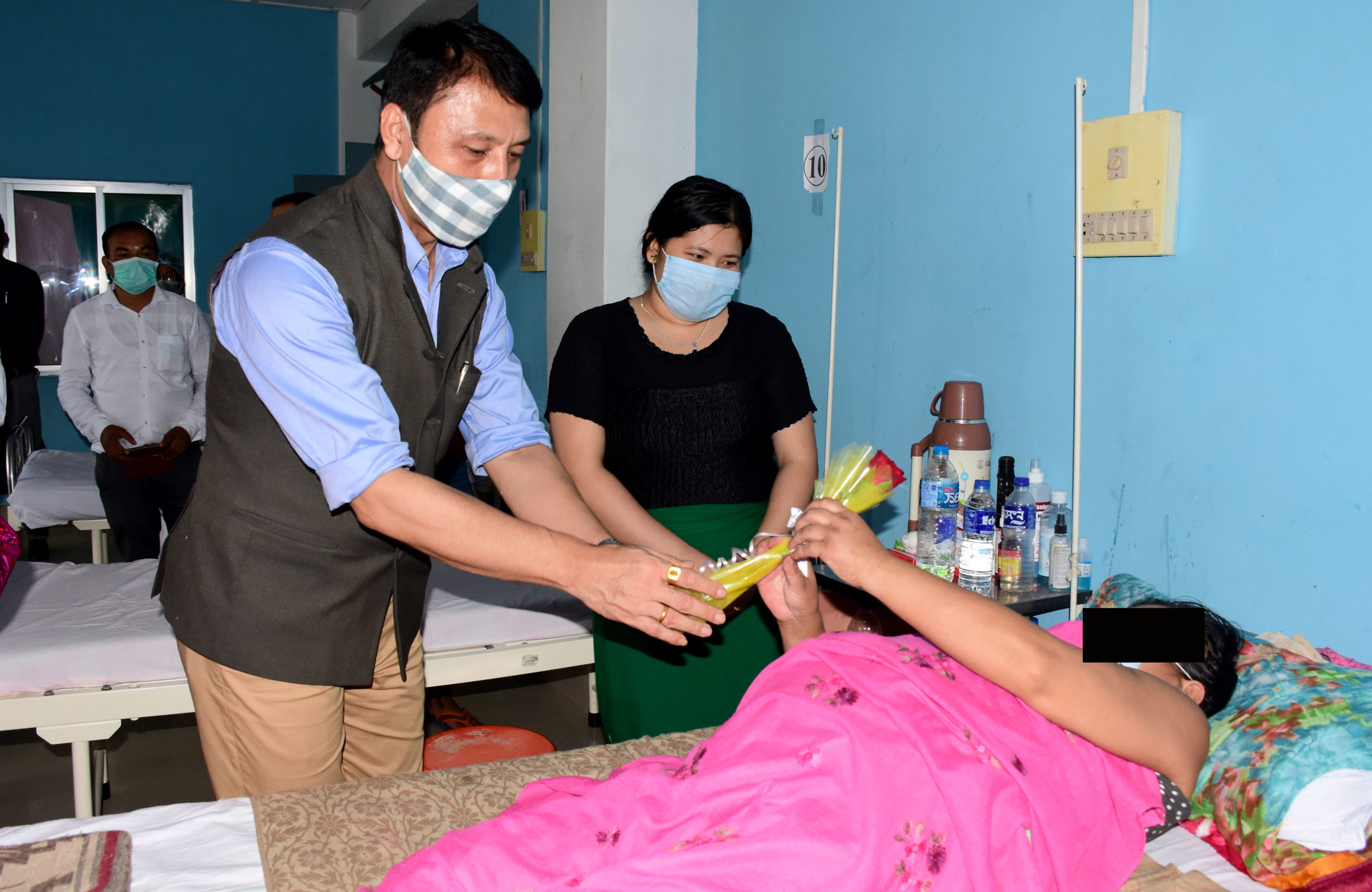 RIMS, Imphal observes World Rose Day; Minister Radheshyam interacts with cancer patients