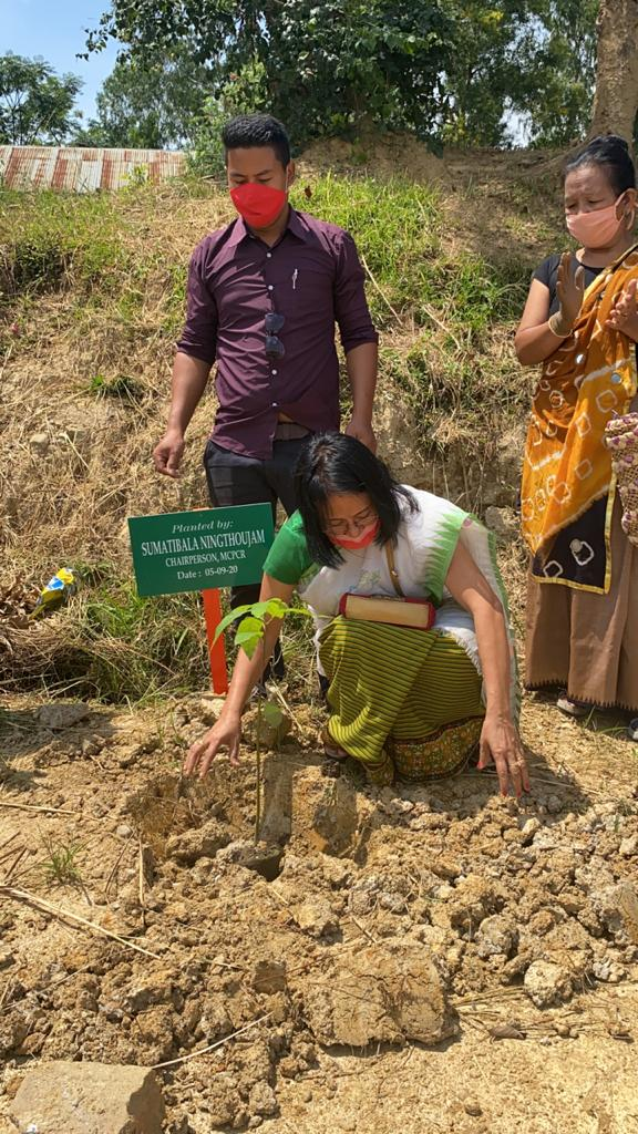 MCPCR carries out tree plantation at Yaibilen Children Home