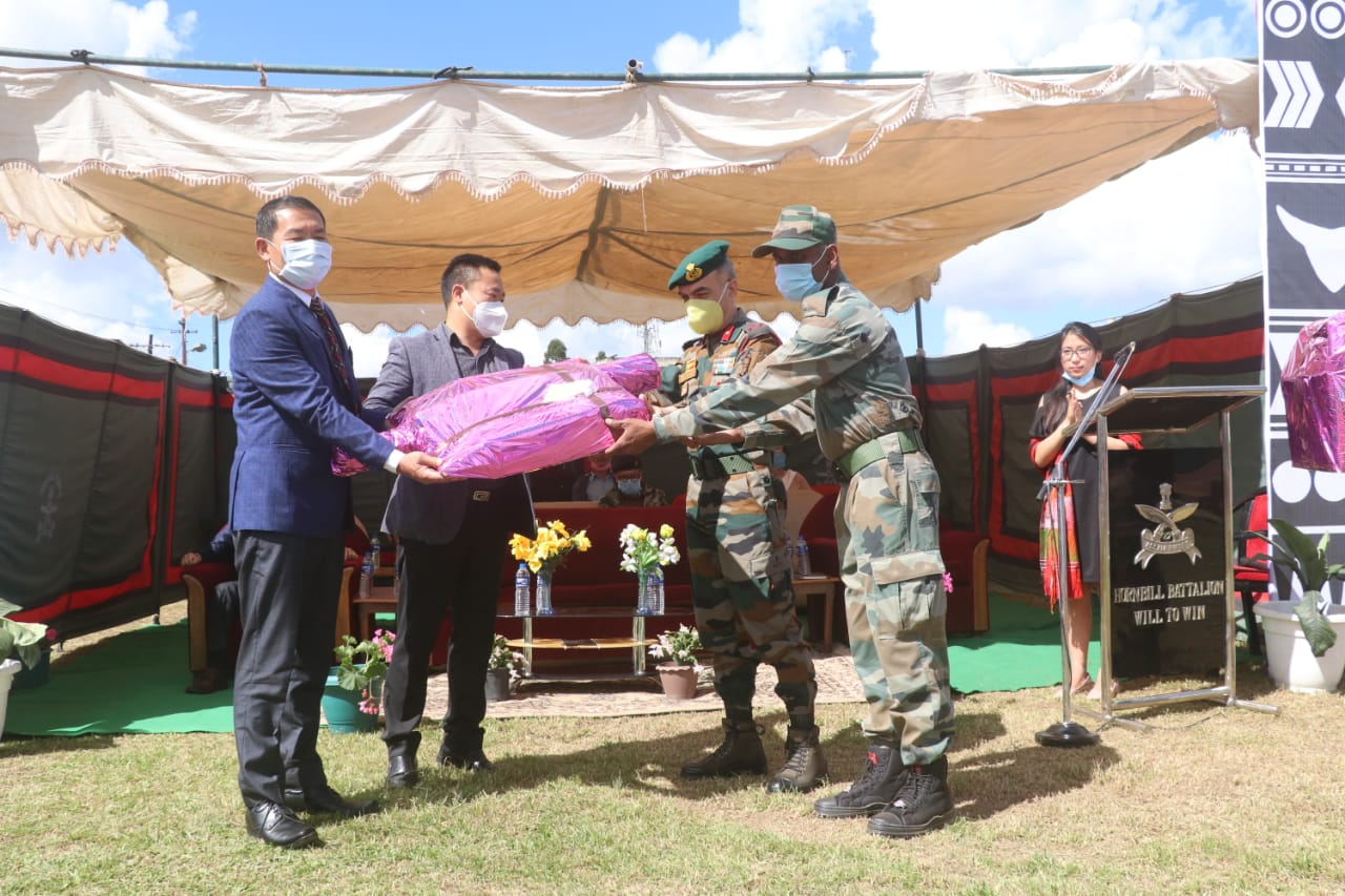 AR gifs ventilator and other COVID mitigation equipment to people of Ukhrul