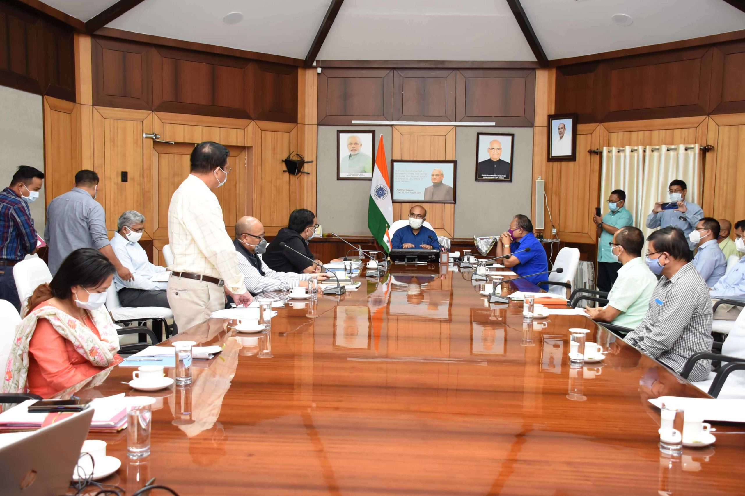Chief Minister reviews progress of joint survey