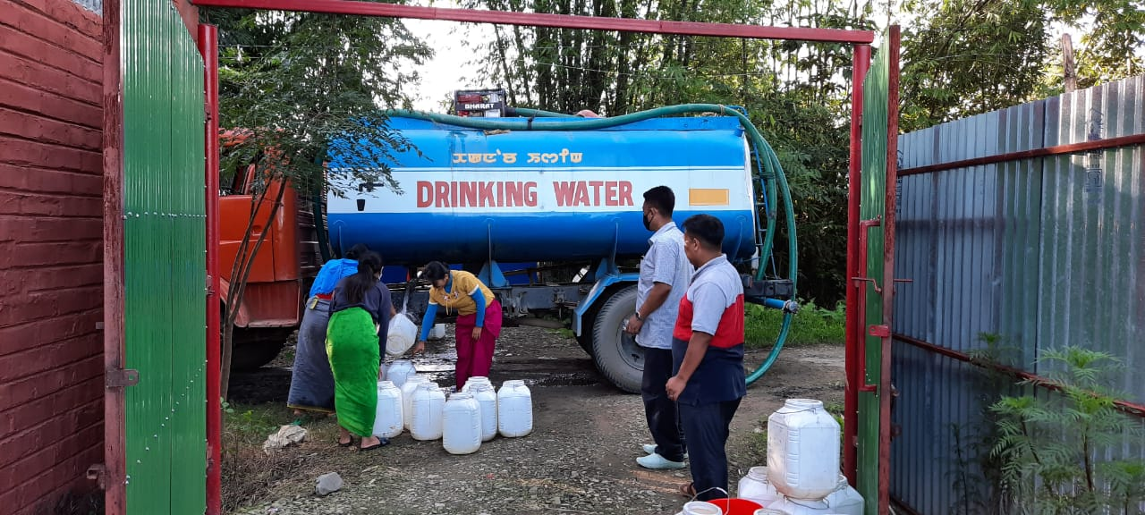 Essential items, drinking water distributed