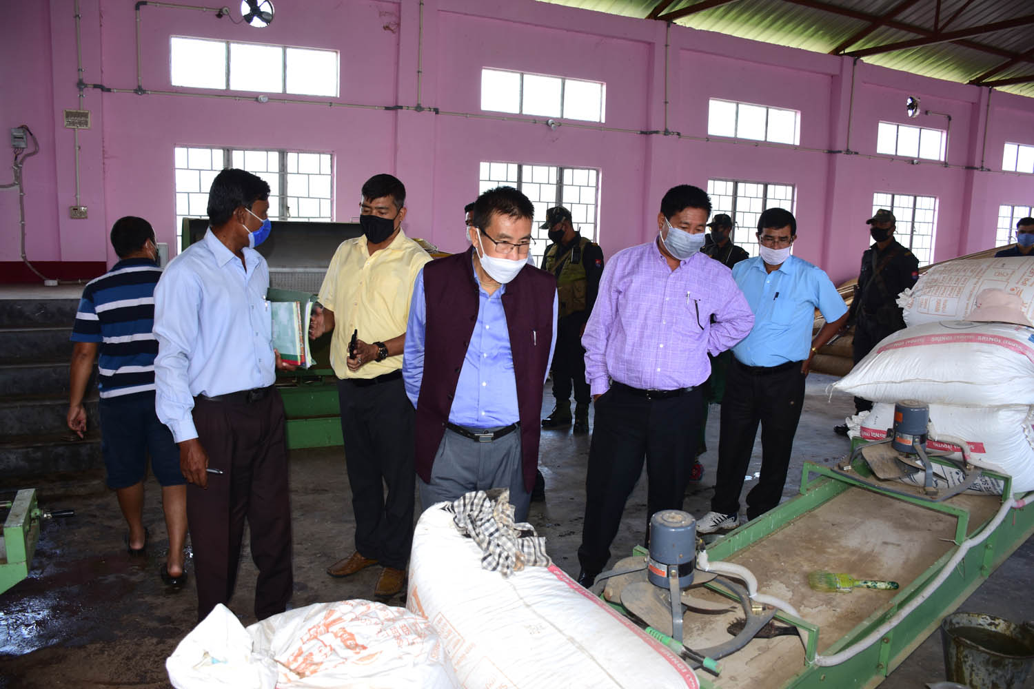 Fishery Minister Inspects Government Fish Feed Mill Plant At Lamphelpat