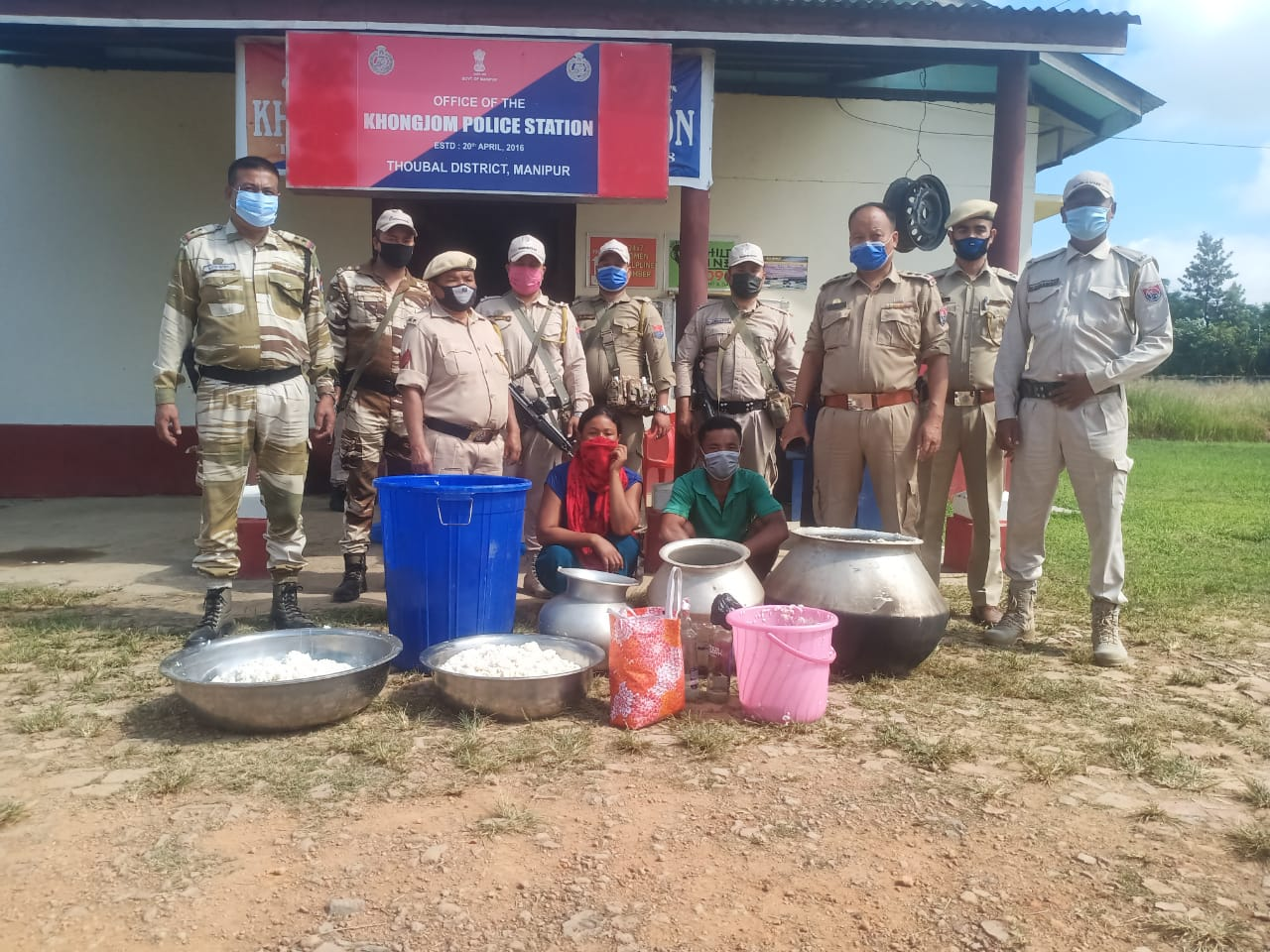Police seized utensils, materials used in production of DIC liquor