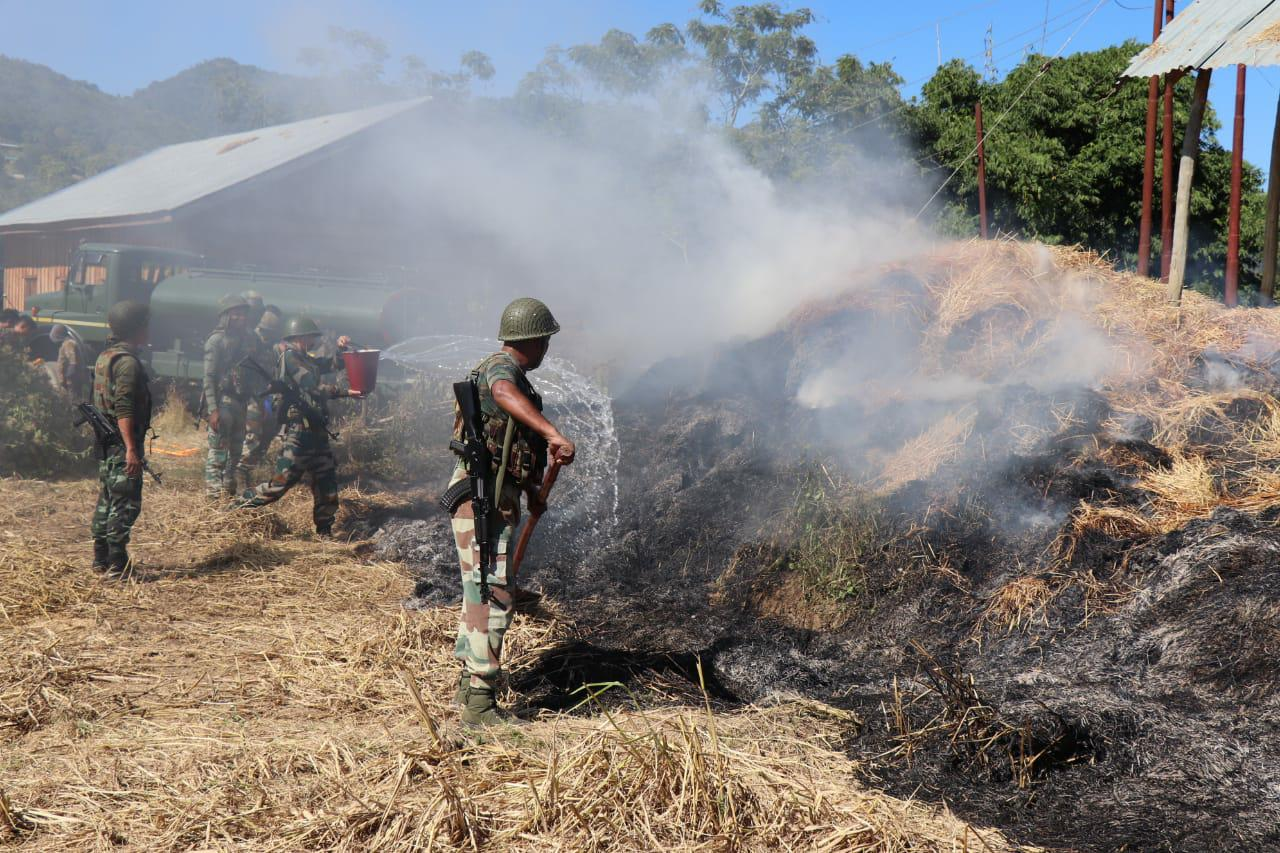 AR assists villagers in fighting fire