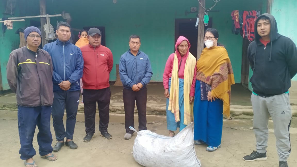 Charcoal bags donated