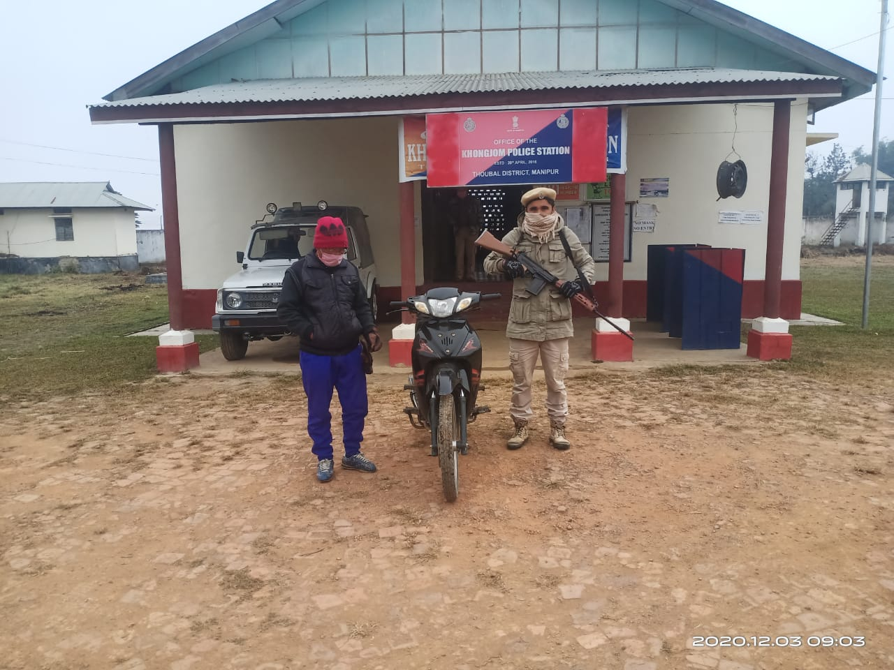 One detained with foreign made illegal motor bike