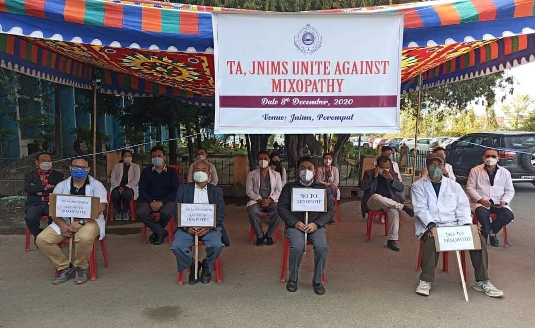 Protest held against govt directives on Ayush doctors